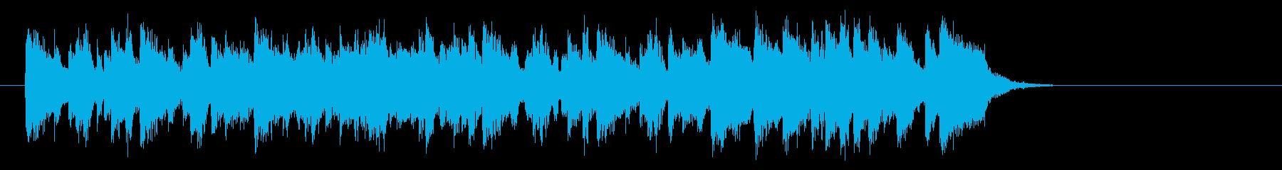 リゾート風ラテンポップス(サビ)の再生済みの波形
