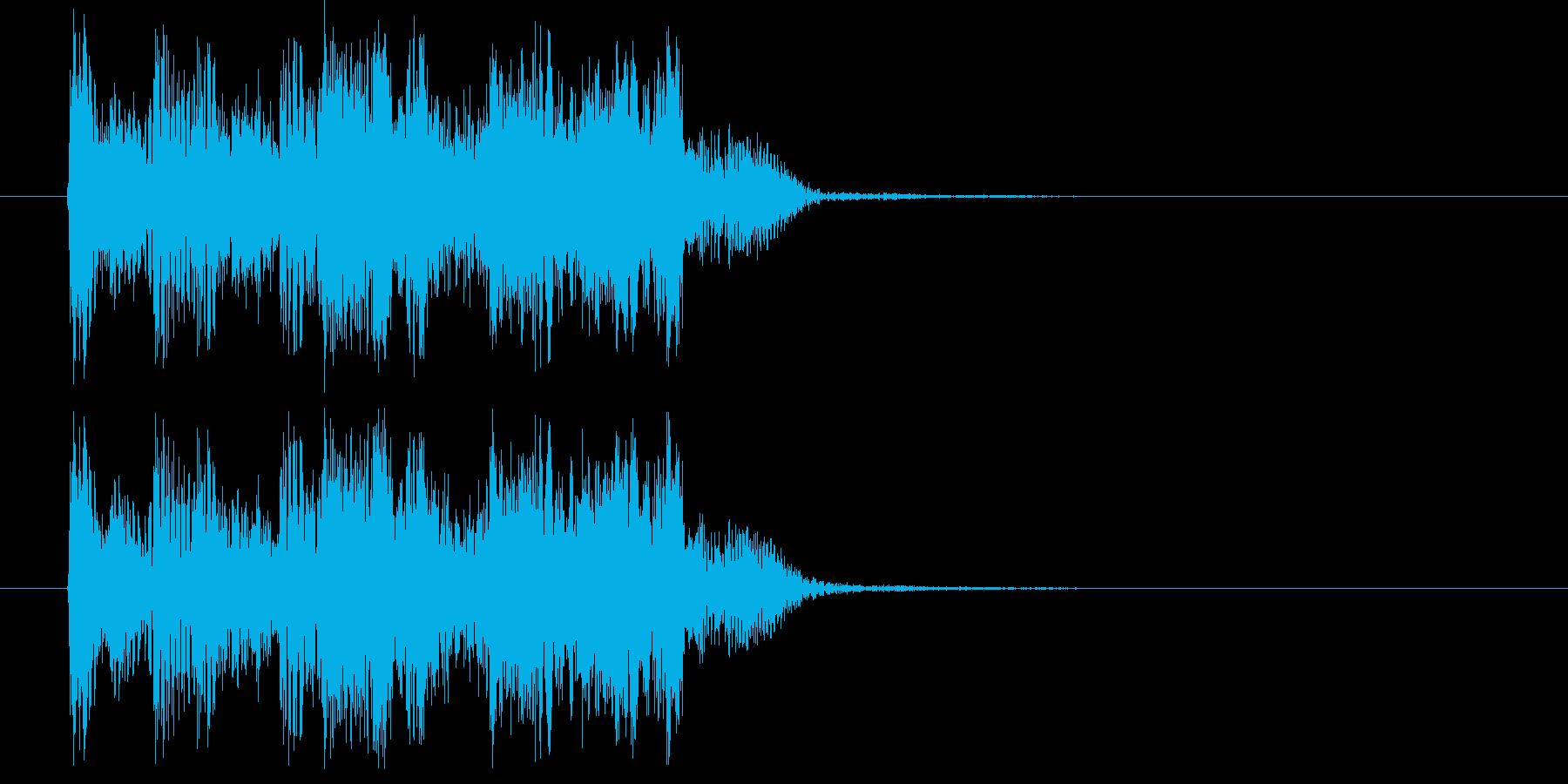 疾走感のあるハードロックの再生済みの波形