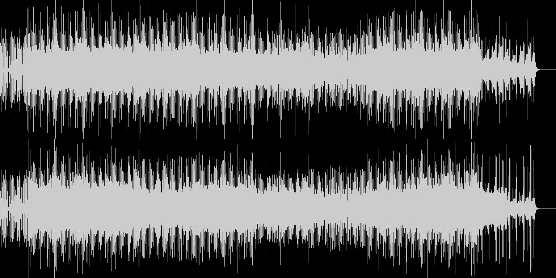 動くベース音とシンセリードが特徴のBGMの未再生の波形