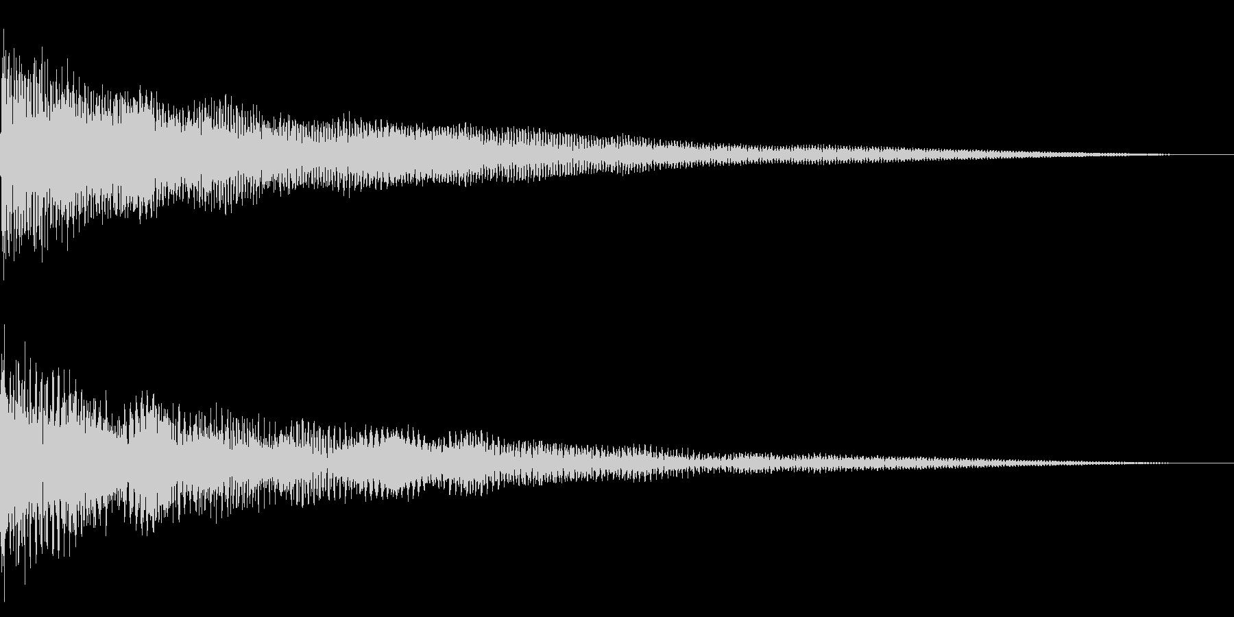 ホラー系アタック音86の未再生の波形