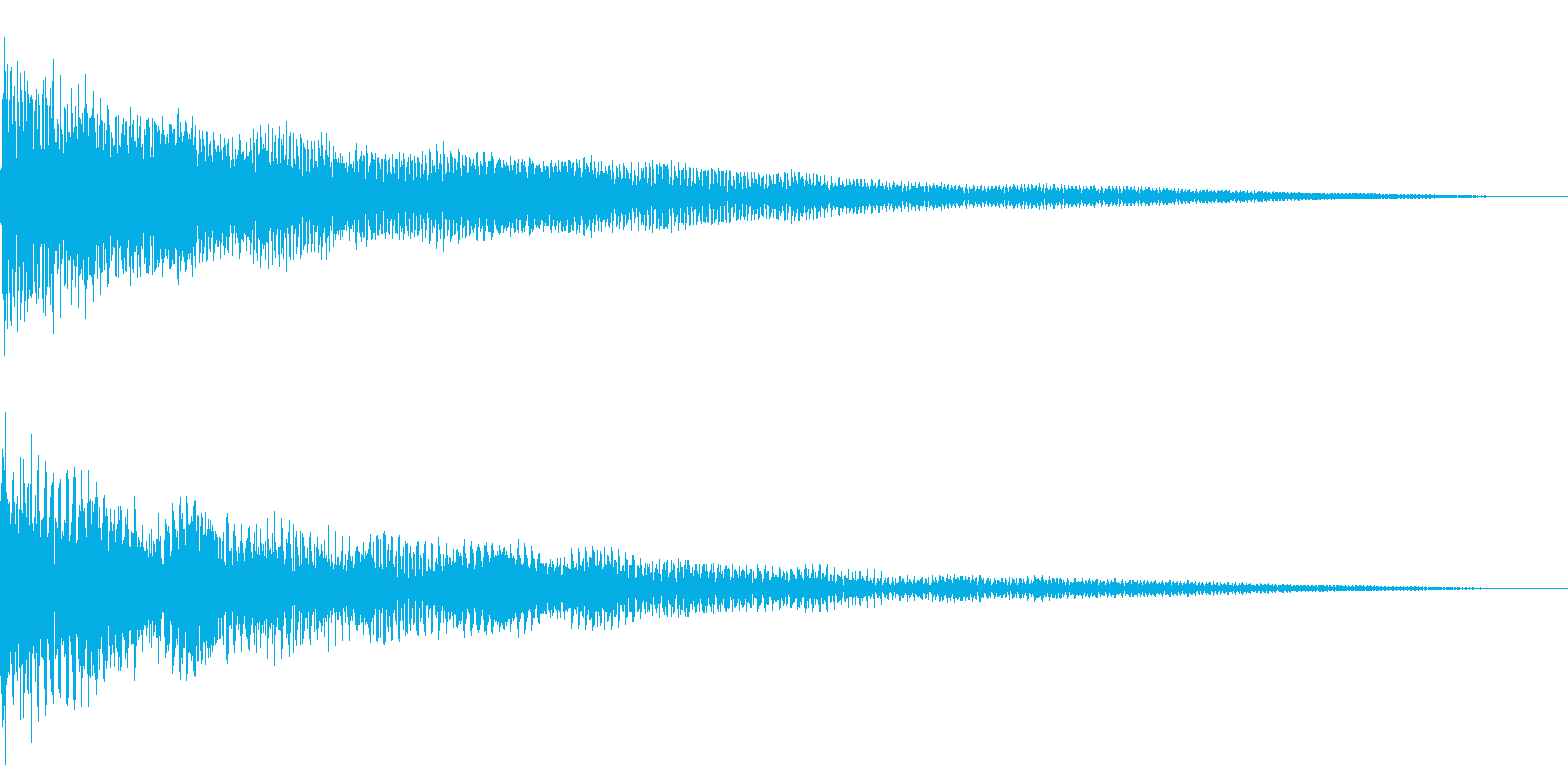 ホラー系アタック音86の再生済みの波形