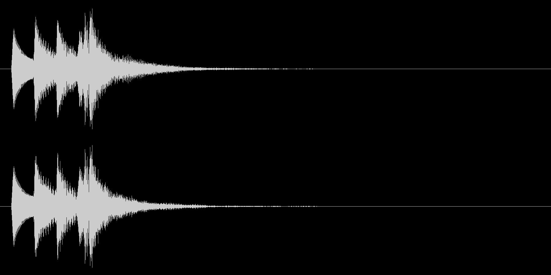 セーブ音(タララン↑、記録、ゲーム)の未再生の波形
