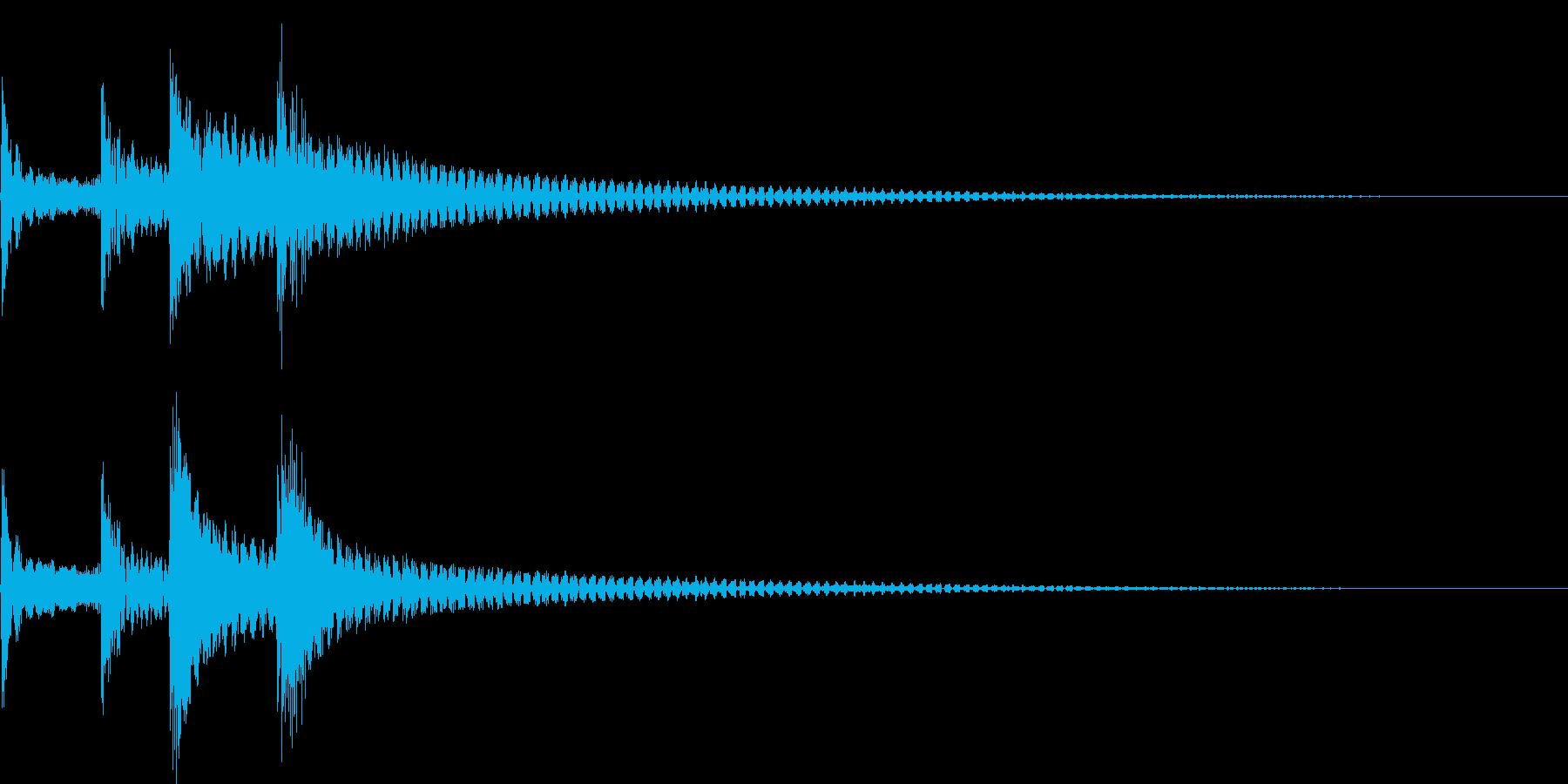 コロロンちょっと低音(出現、回転、結果)の再生済みの波形