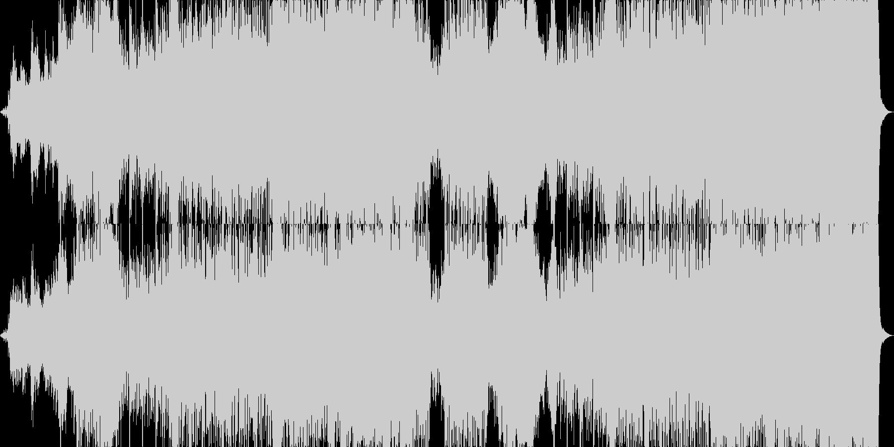 希望的なオーケストラBGMの未再生の波形