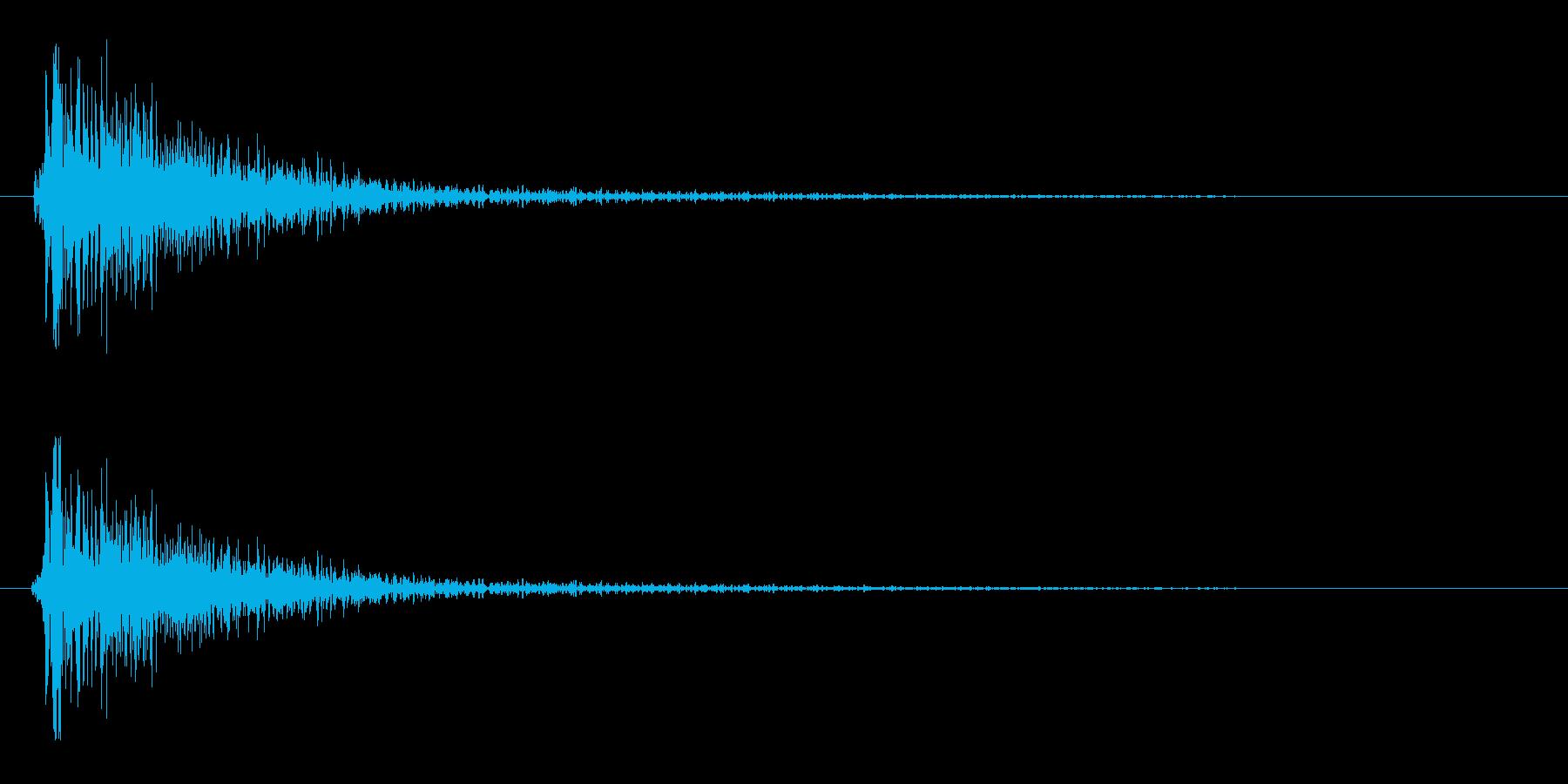 スネアドラムの音(弱め)の再生済みの波形