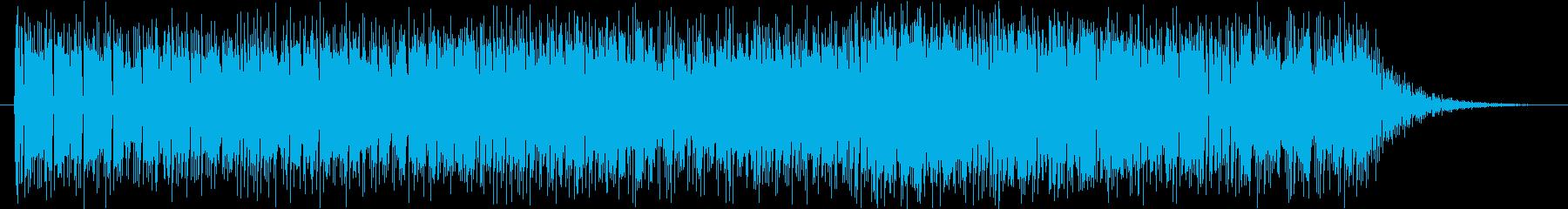 ウーリーとオルガンのファンクの再生済みの波形