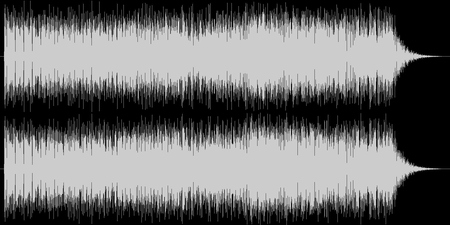 ウーリーとオルガンのファンクの未再生の波形