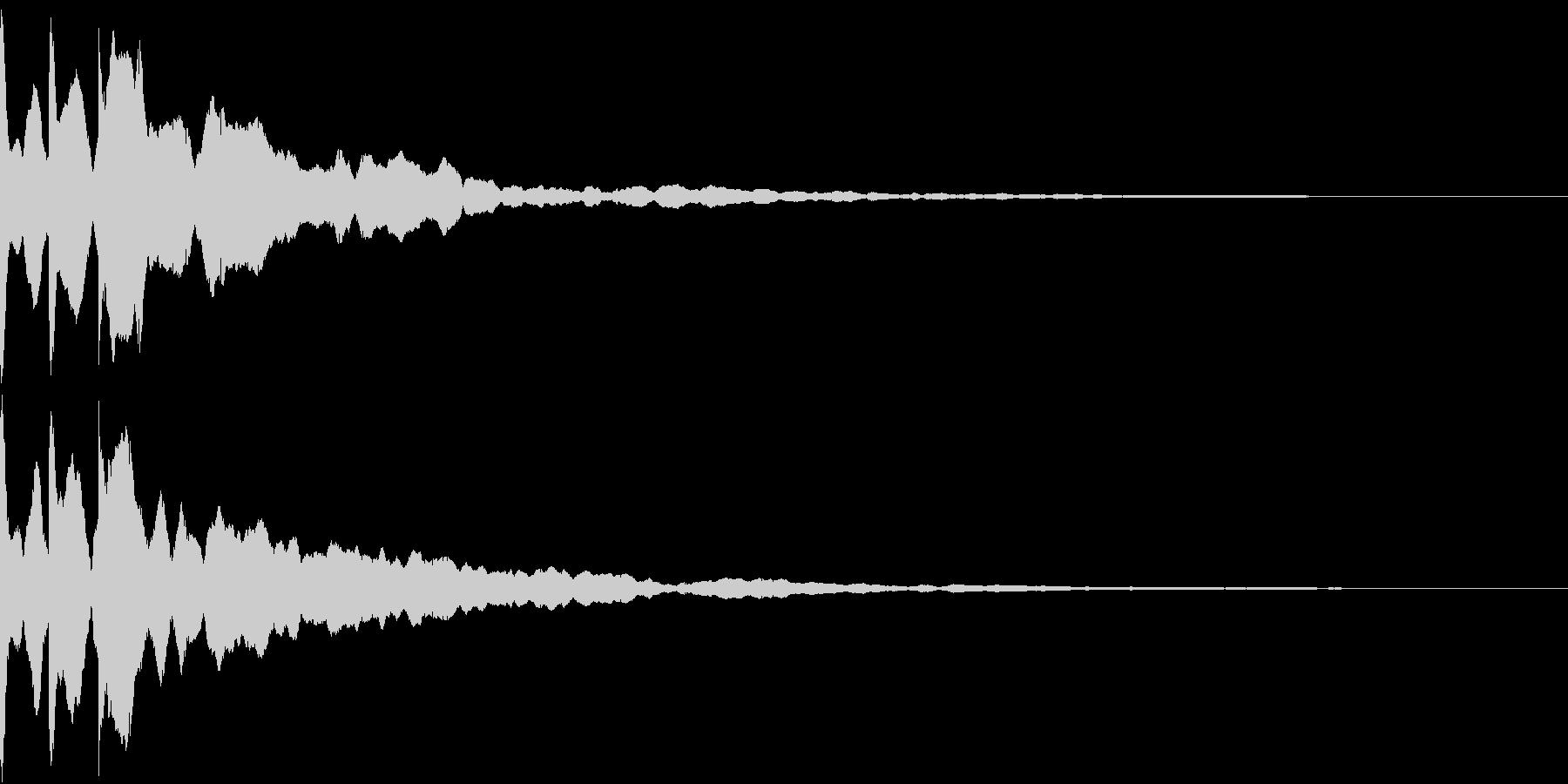 クリック キラリン 閃き 決定 15の未再生の波形