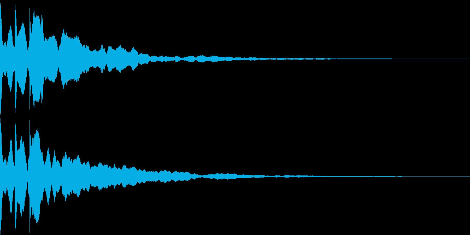 クリック キラリン 閃き 決定 15の再生済みの波形
