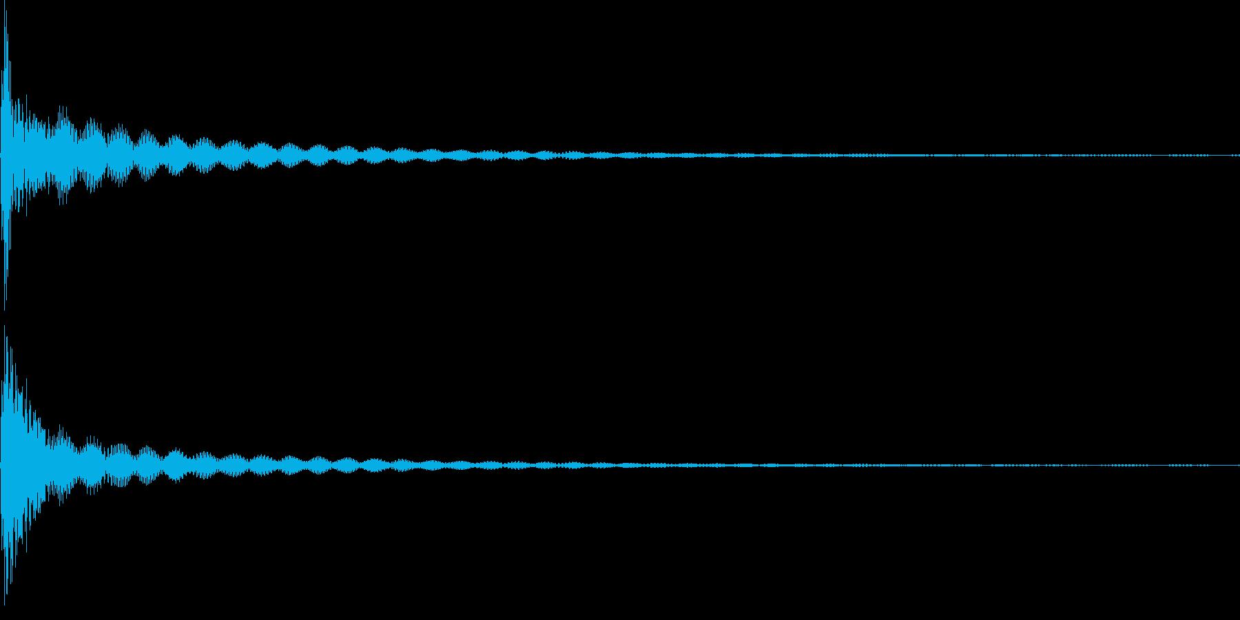 コン(カーソル、キャンセル、失敗)の再生済みの波形