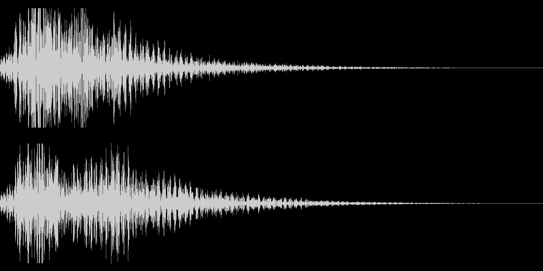 太鼓 和太鼓フレーズ ジングル ロゴ10の未再生の波形