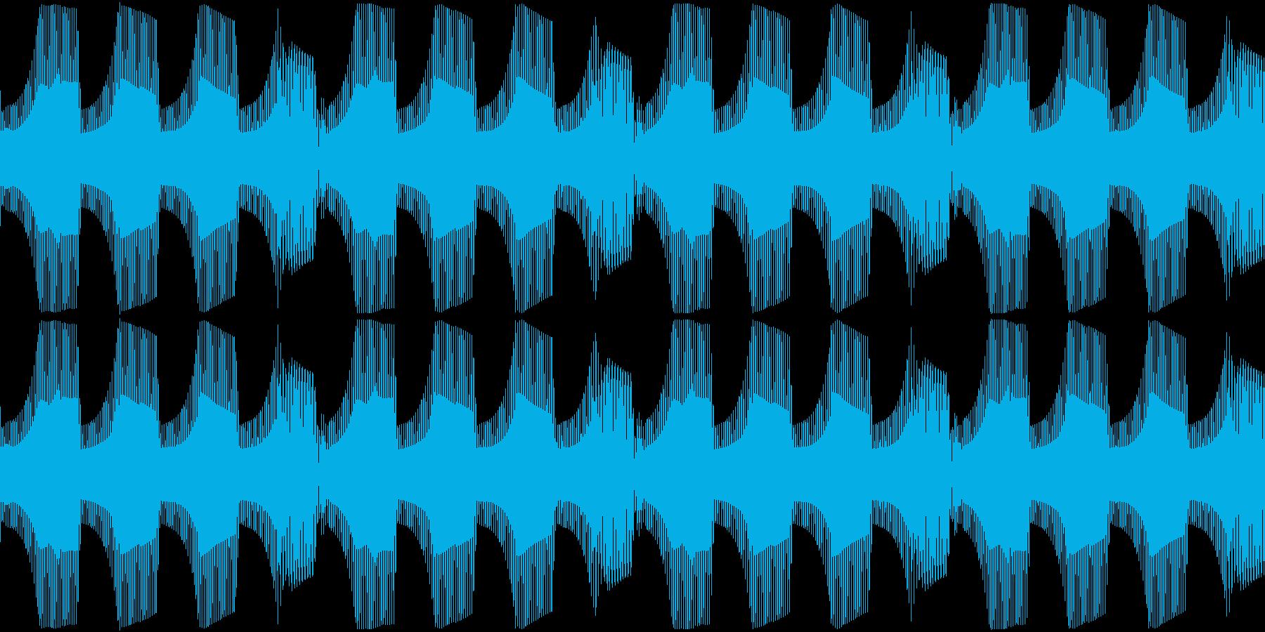 Techno ベース 7 音楽制作用の再生済みの波形