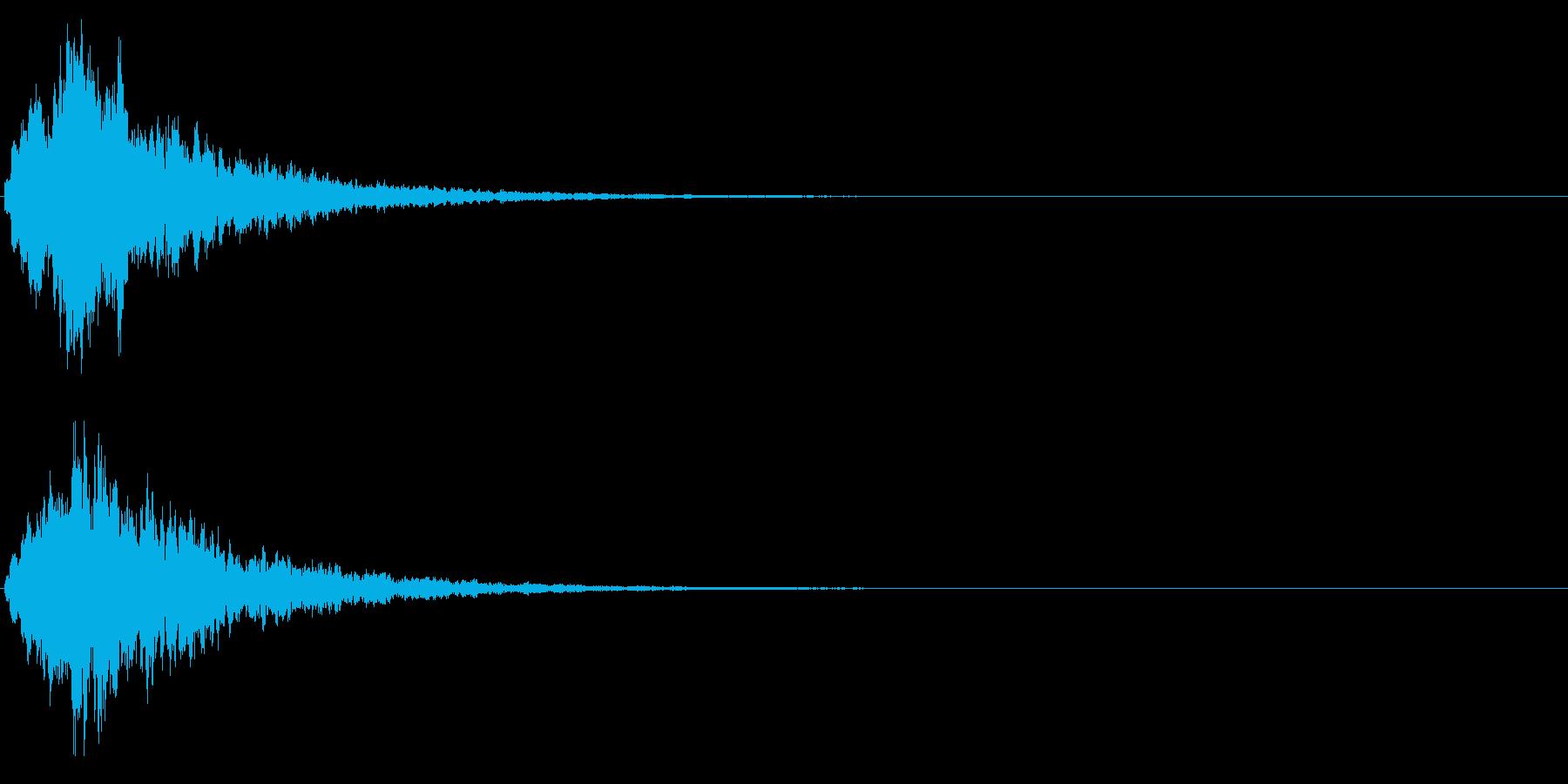 ゲームスタート、決定、ボタン音-012の再生済みの波形