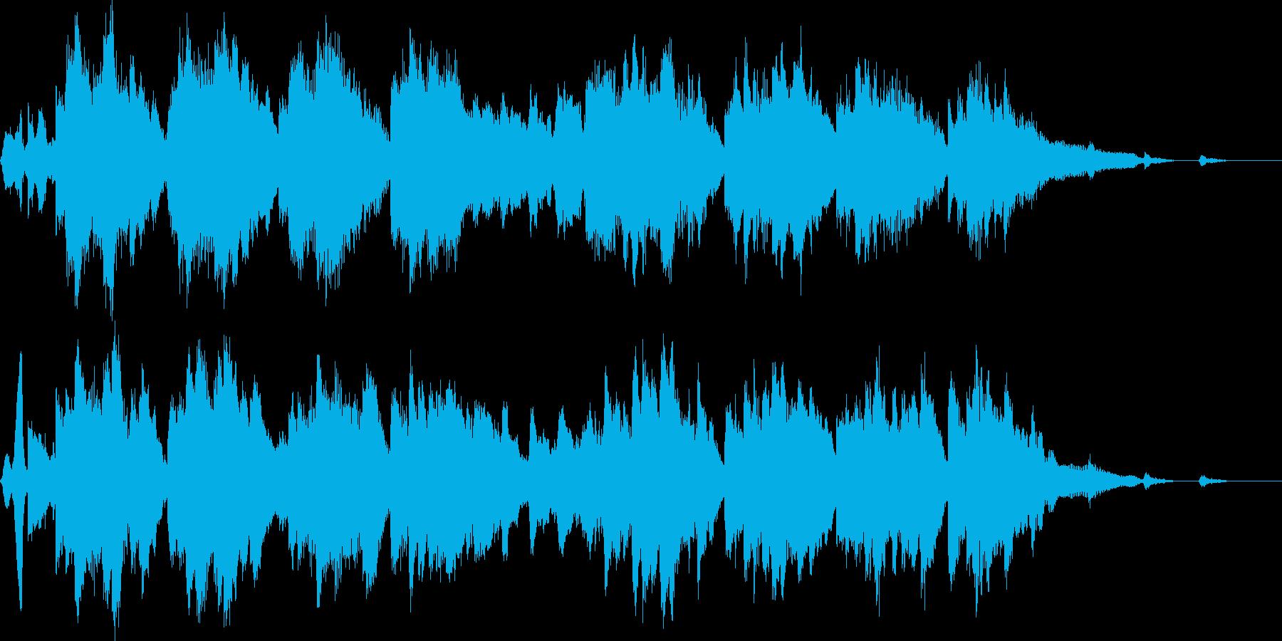 映像作品向け音楽の再生済みの波形