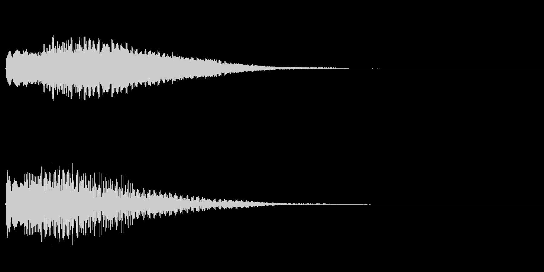 キラキラしたベルの下降音3の未再生の波形