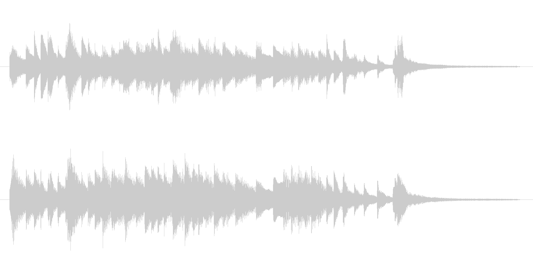 ミステリアスでムーディーな間奏曲 ピアノの未再生の波形