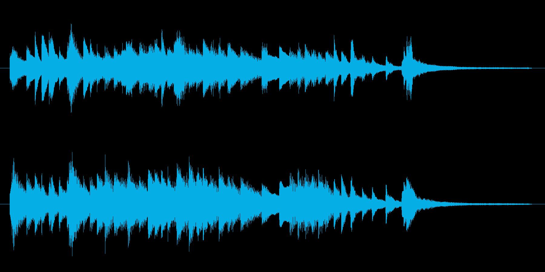 ミステリアスでムーディーな間奏曲 ピアノの再生済みの波形