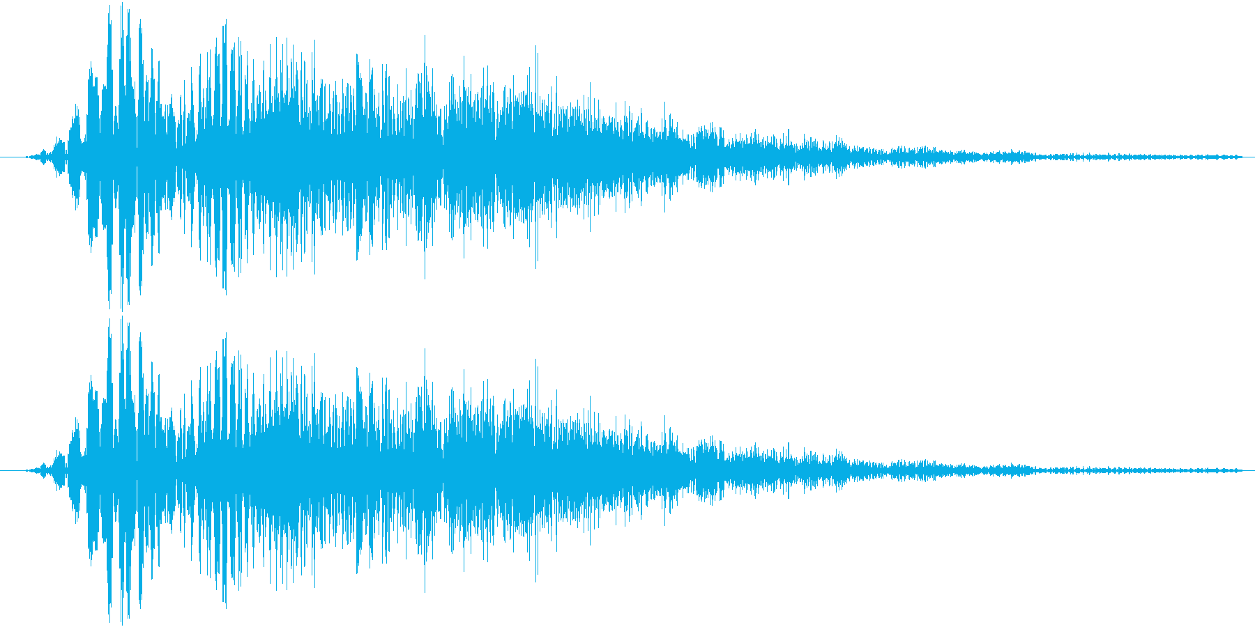 サウンドロゴ19の再生済みの波形