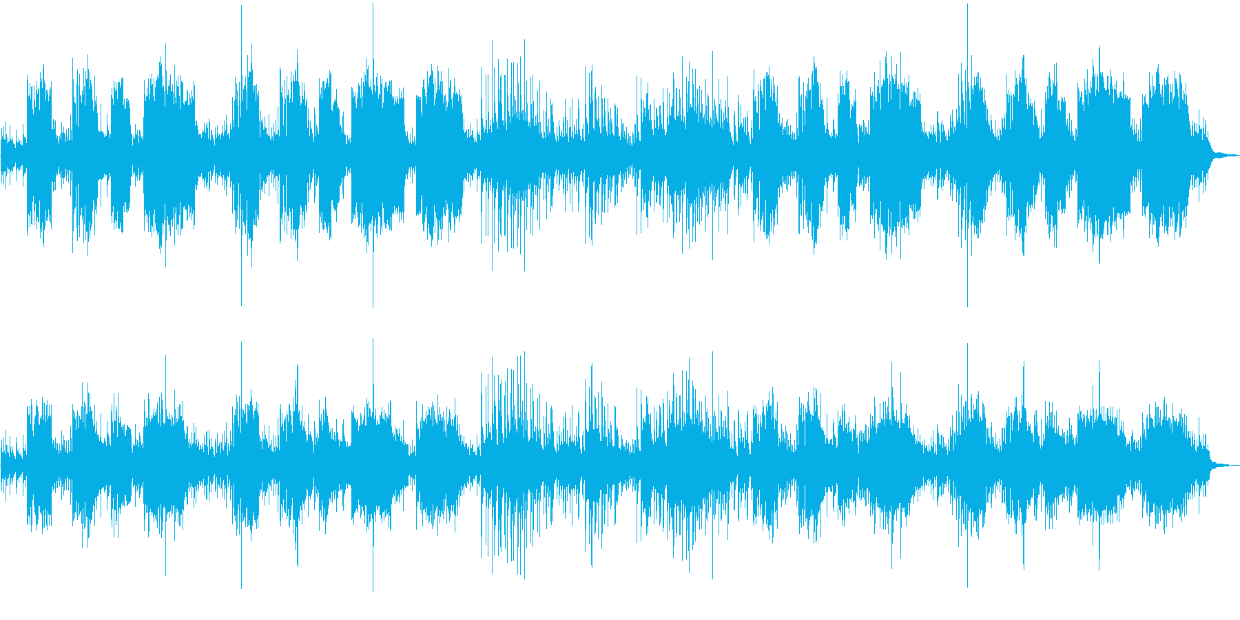 楽しいヨーロッパ民族音楽の再生済みの波形
