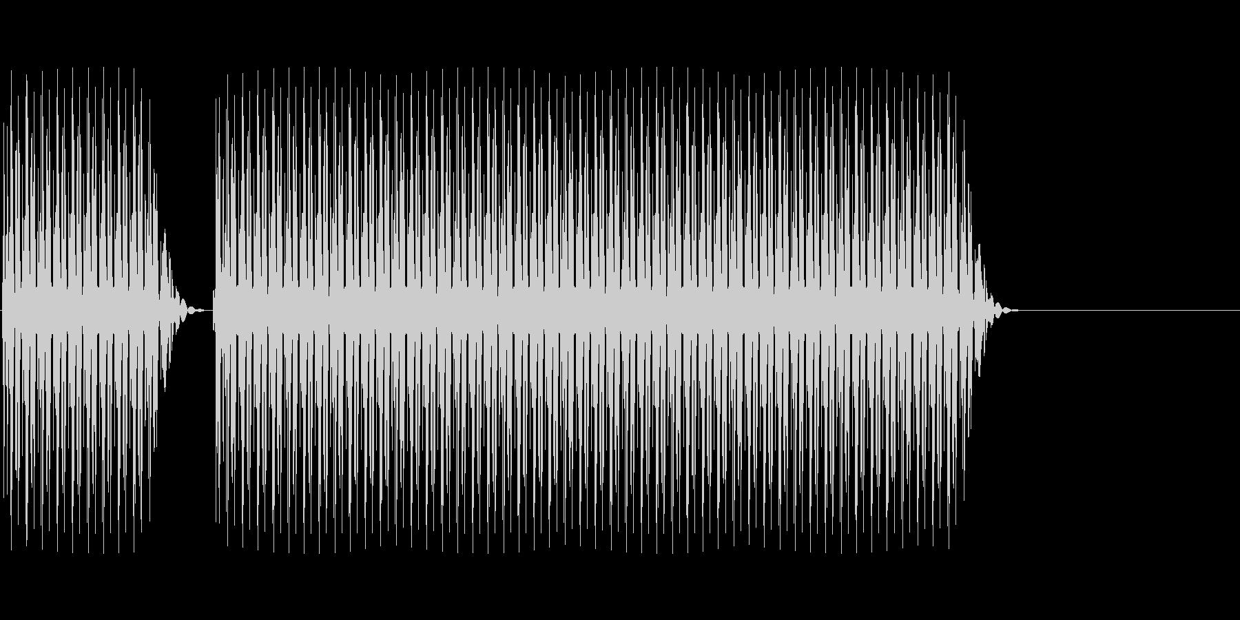 クイズ不正解(ブブー)の未再生の波形