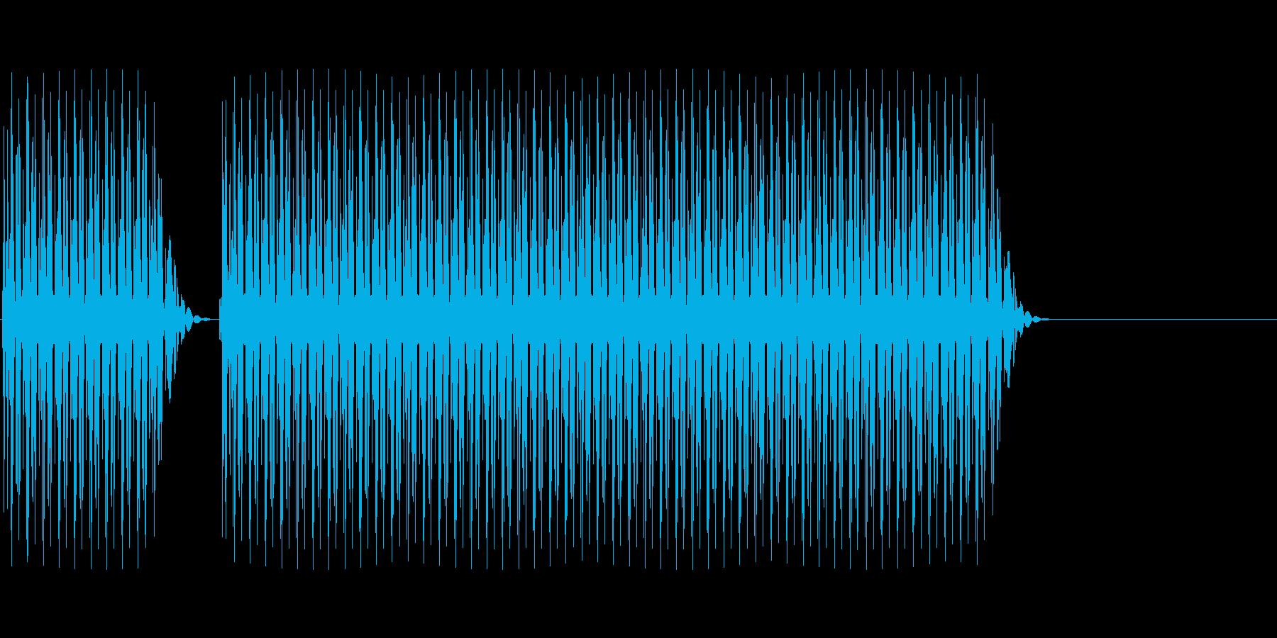 クイズ不正解(ブブー)の再生済みの波形