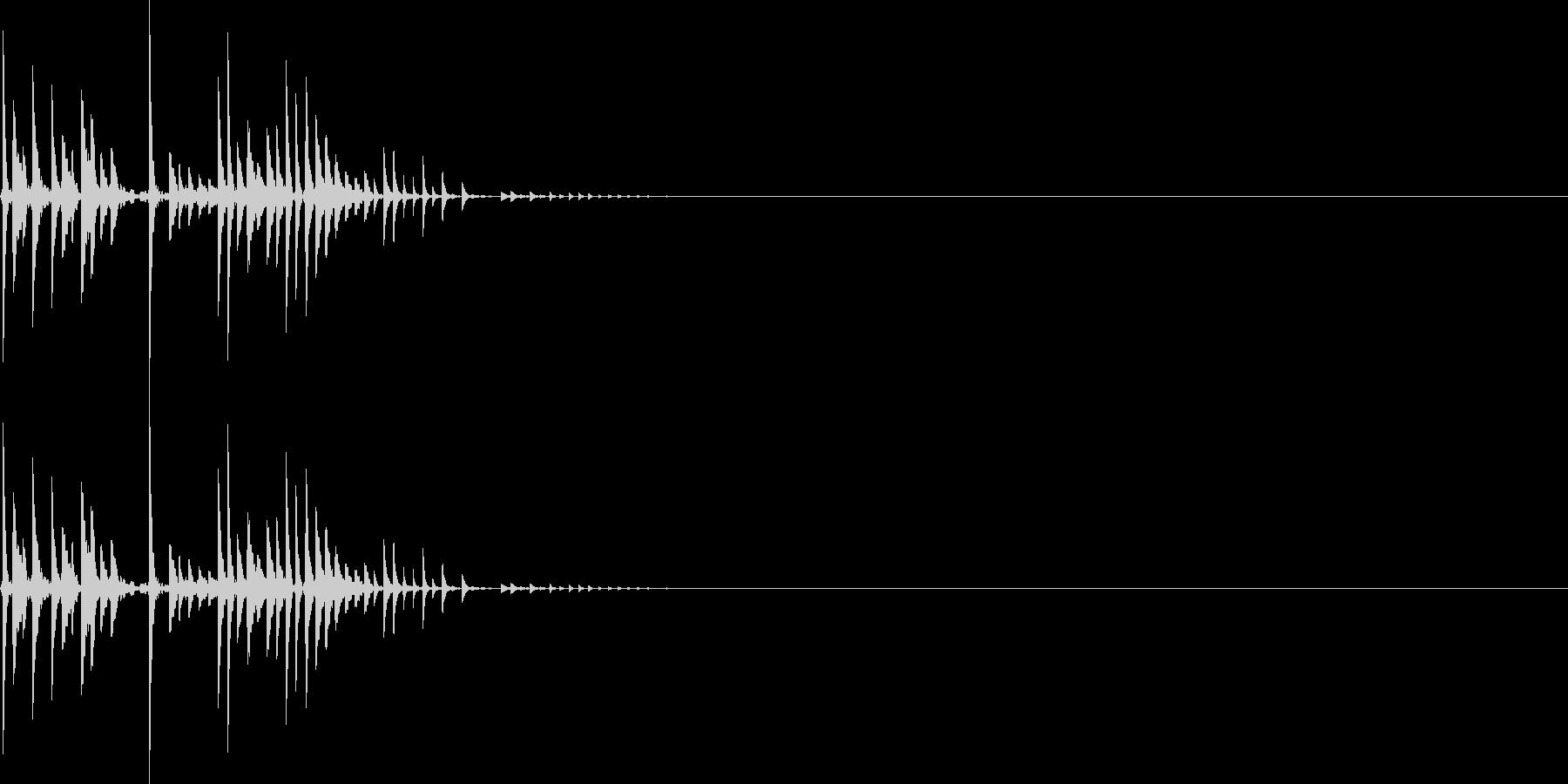 ピシャリ(マイナスイメージ_ミス)の未再生の波形