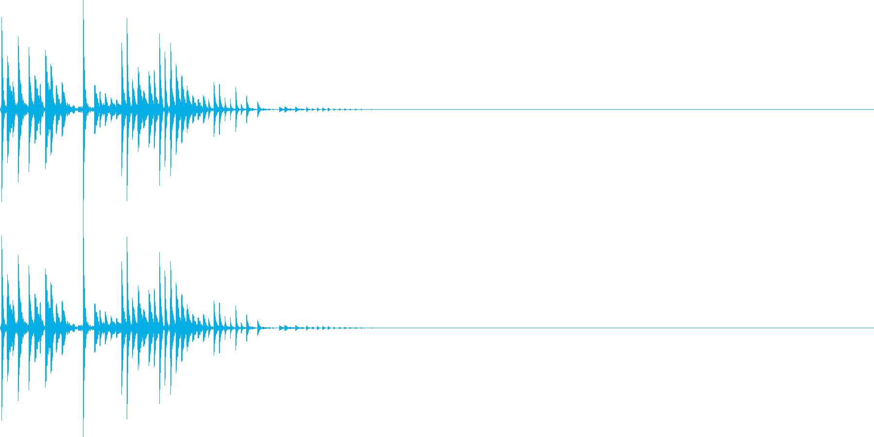 ピシャリ(マイナスイメージ_ミス)の再生済みの波形