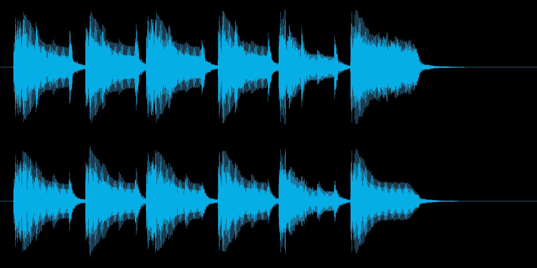 緊迫感と怪しさのあるインスト曲の再生済みの波形