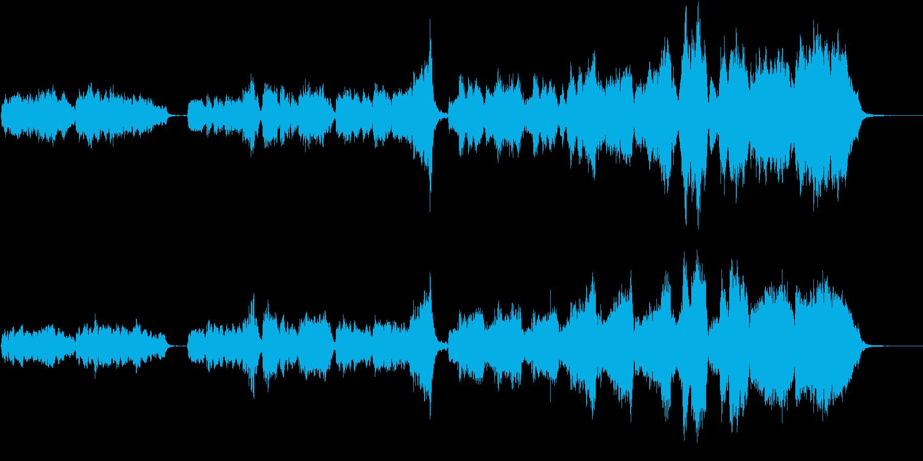 女性ボーカルによるアカペラ仕立ての結婚曲の再生済みの波形