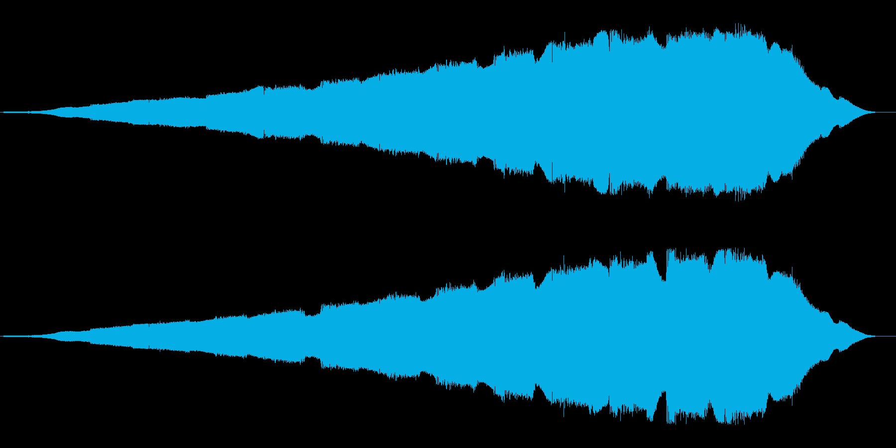 無線信号や電波の様なループした効果音の再生済みの波形