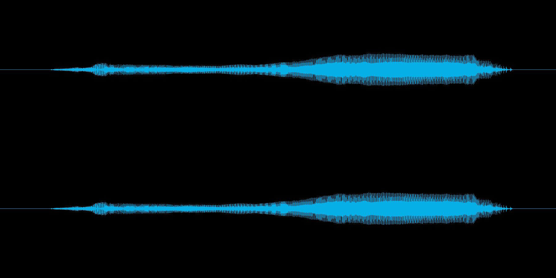 む~の再生済みの波形
