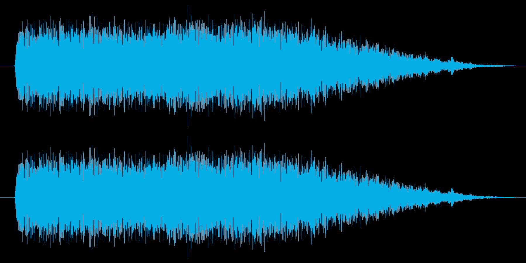 RPGの戦闘突入音の再生済みの波形