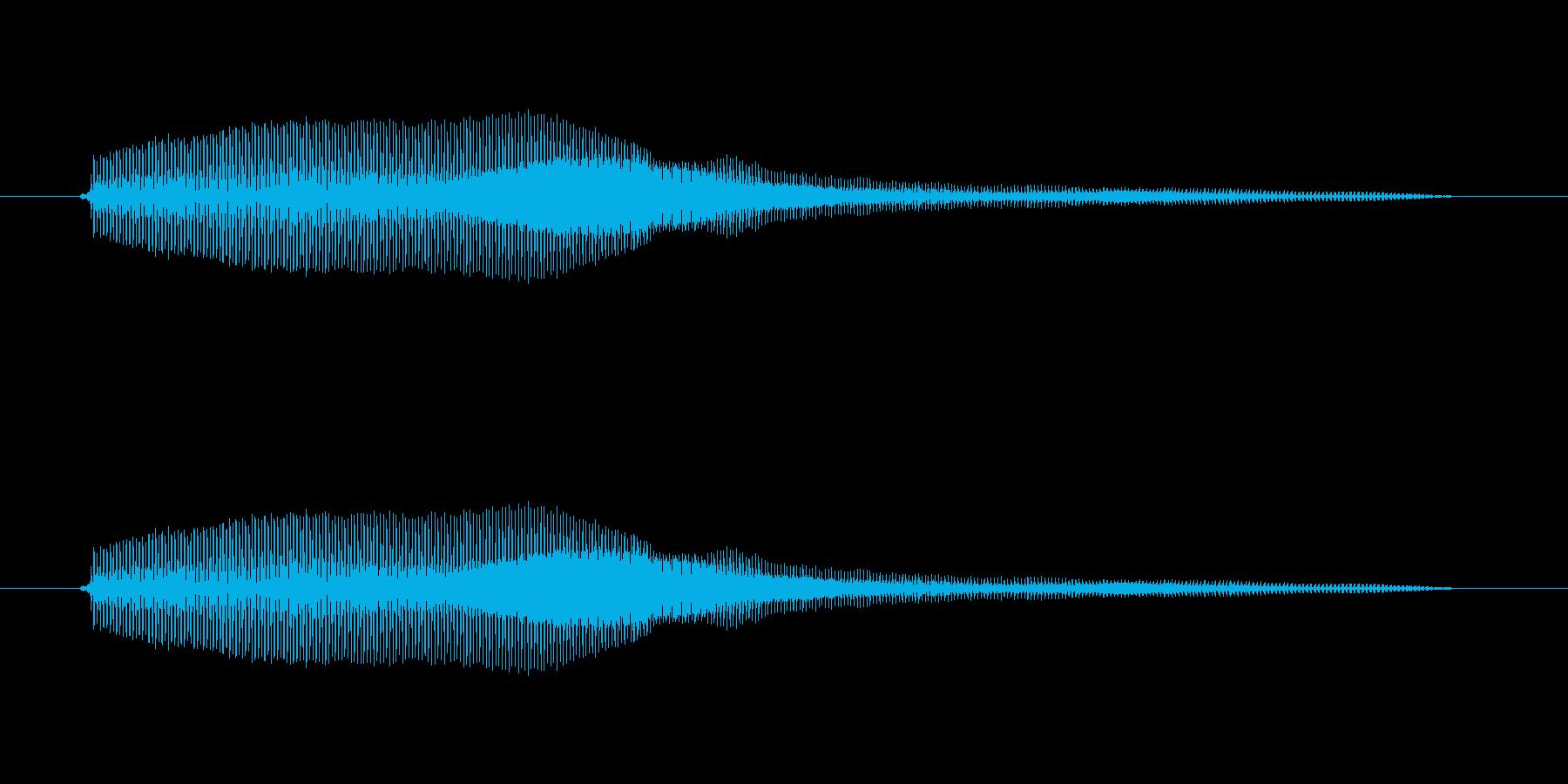 みゅー【鳴き声・子猫など】の再生済みの波形