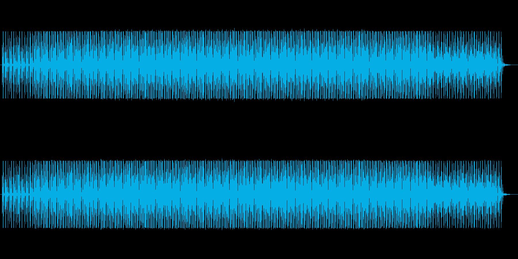 雰囲気重視のシンプルなループの再生済みの波形