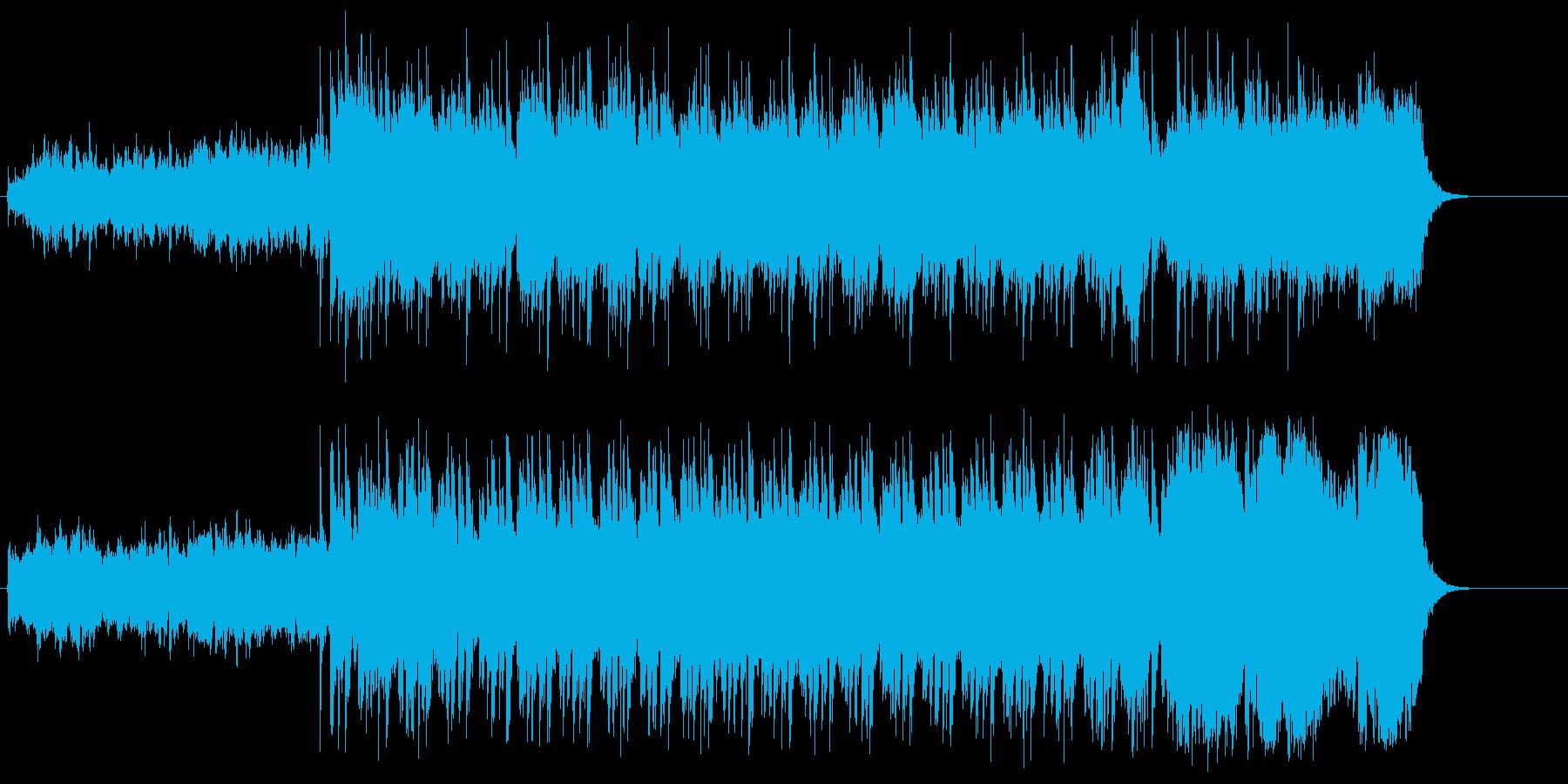 夜明けの澄み切ったイメージのポップスの再生済みの波形