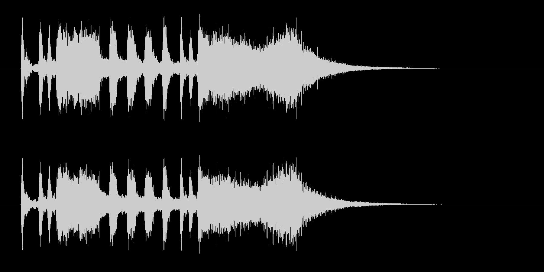 パンパカパーンのメロディーの未再生の波形