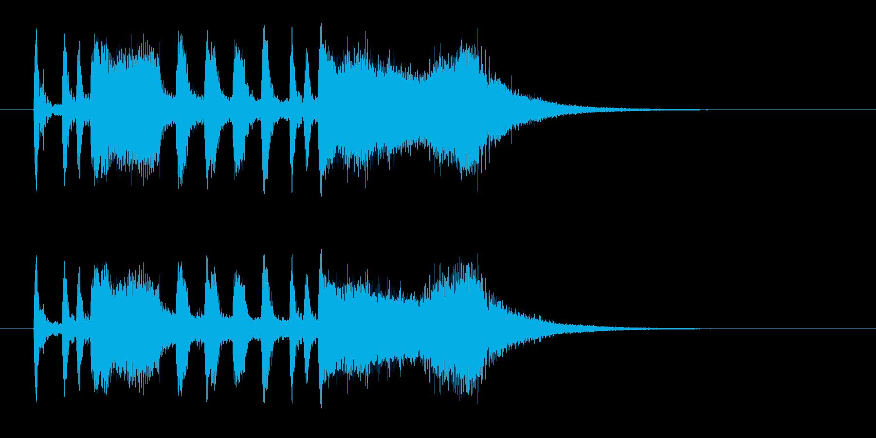 パンパカパーンのメロディーの再生済みの波形