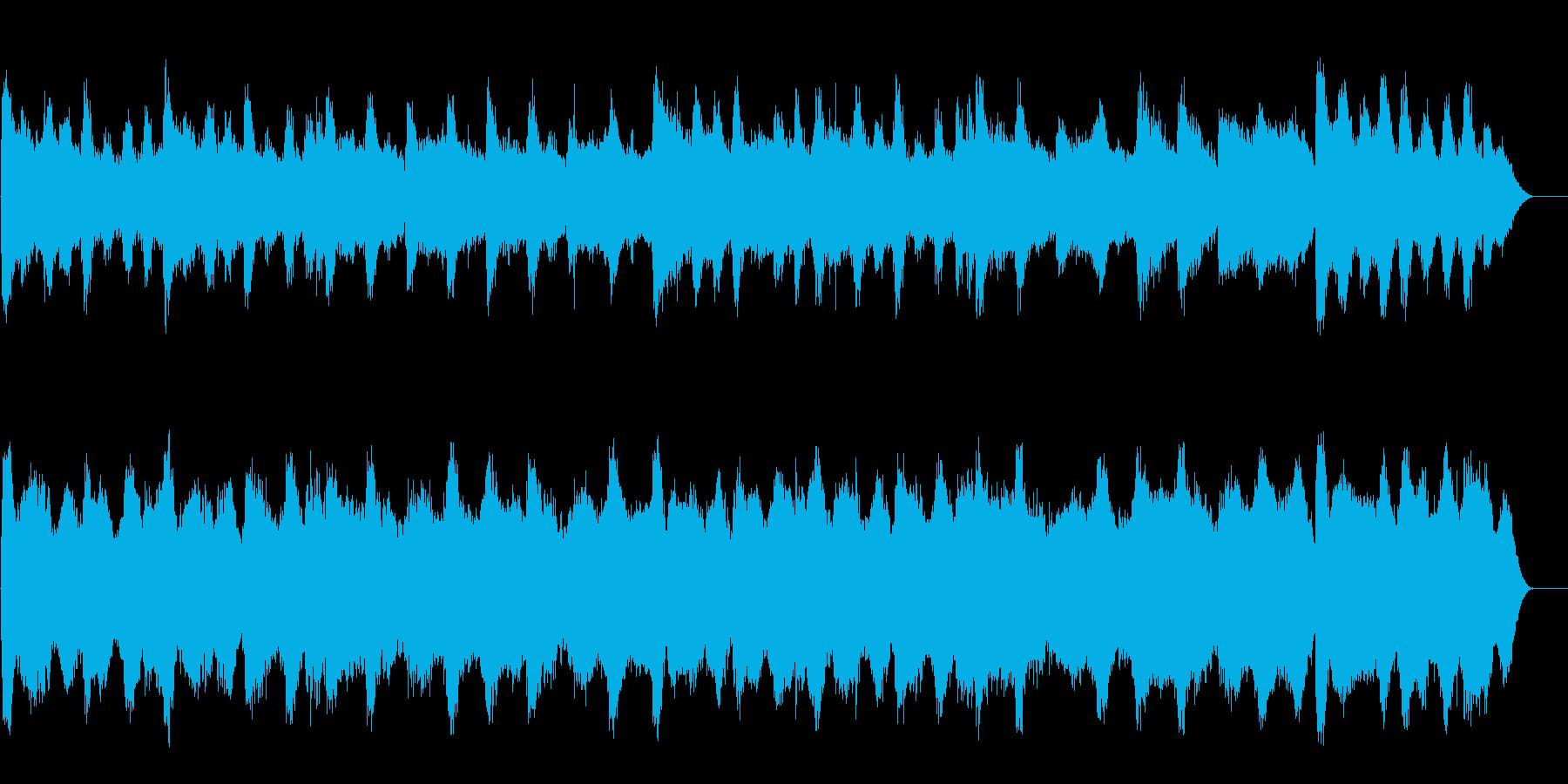 恐怖感のあるサスペンス風マイナーサウンドの再生済みの波形