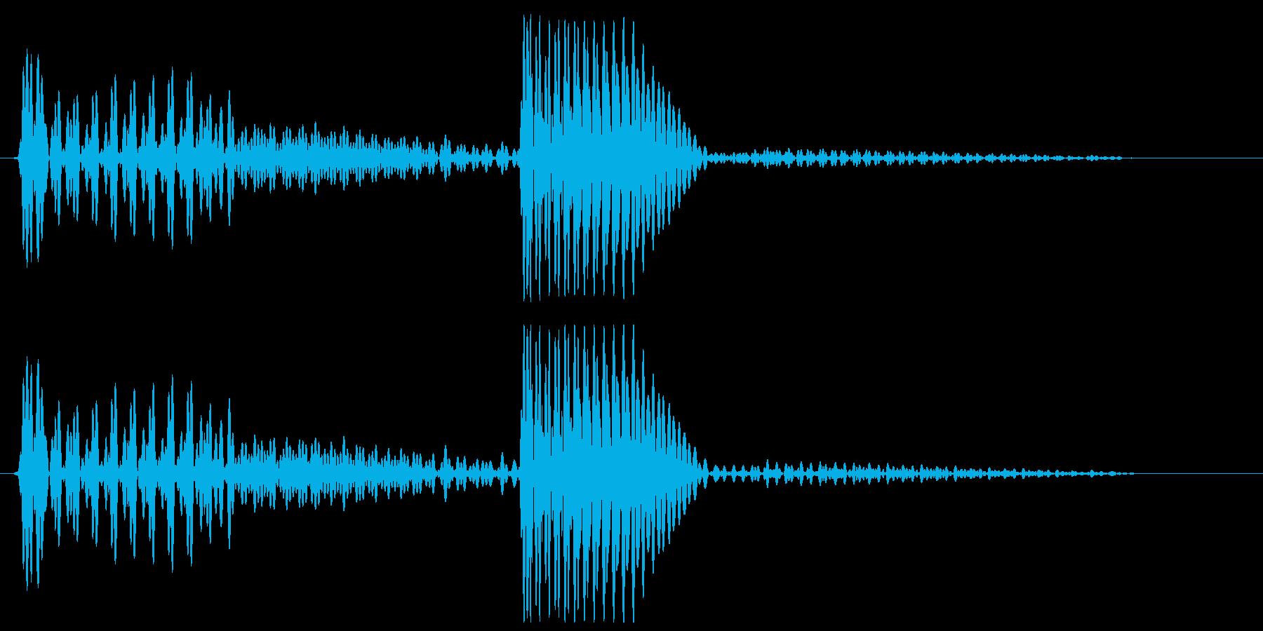 ベンッ(ベースの弦を弾いたような音)の再生済みの波形