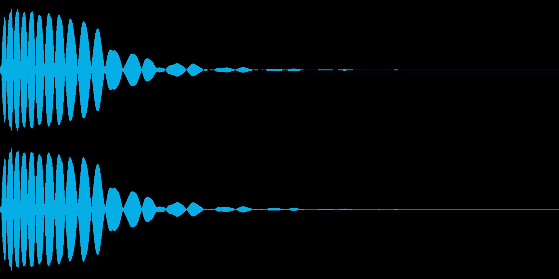 EDMやIDM系のバスドラム!06の再生済みの波形
