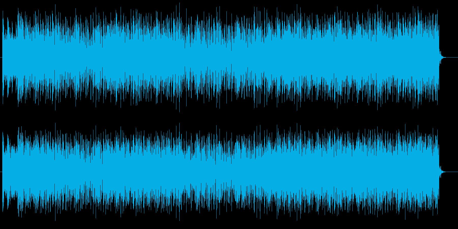 重厚感が溢れるロックの再生済みの波形