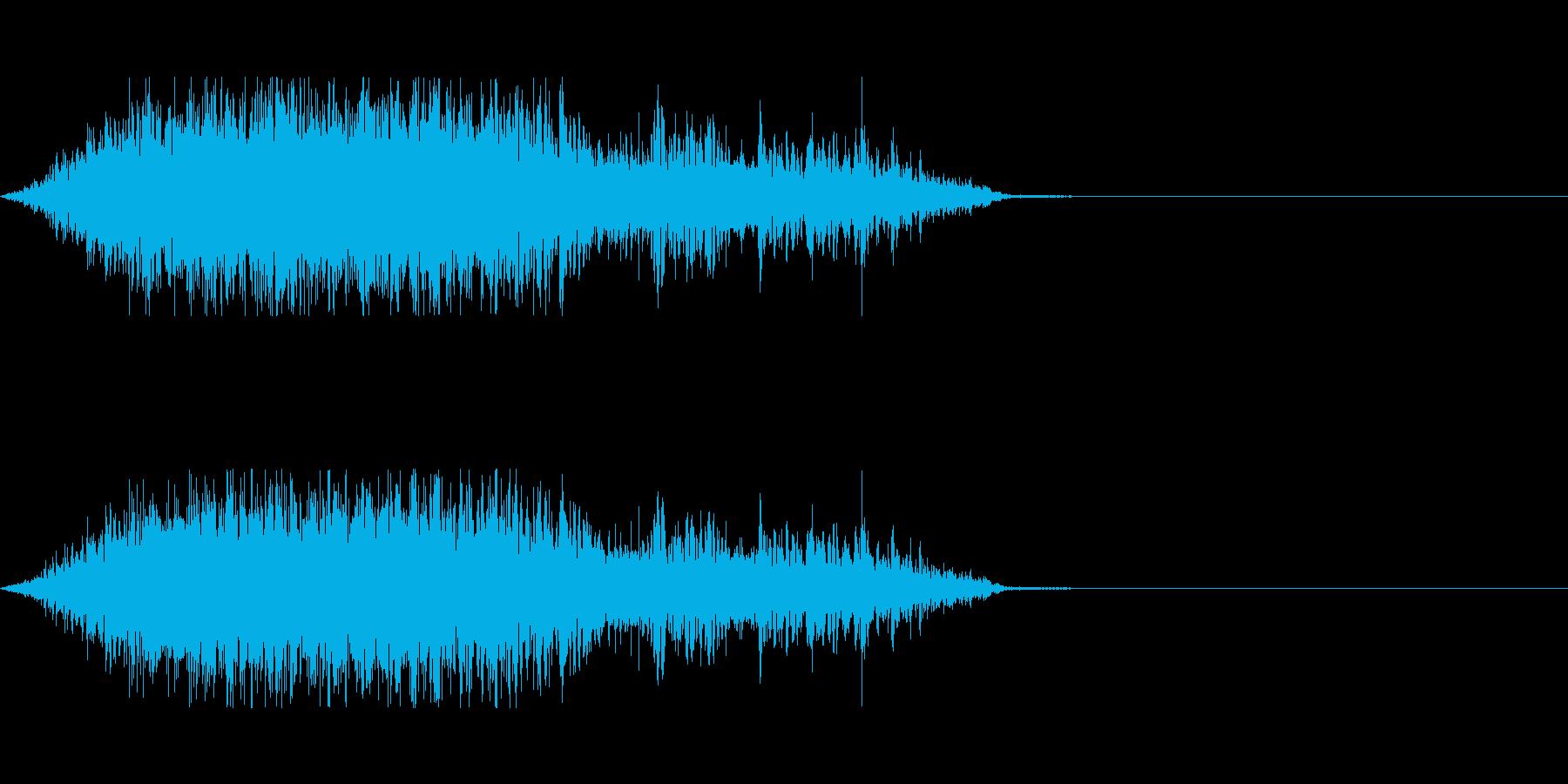 獣、モンスターの鼻息の再生済みの波形