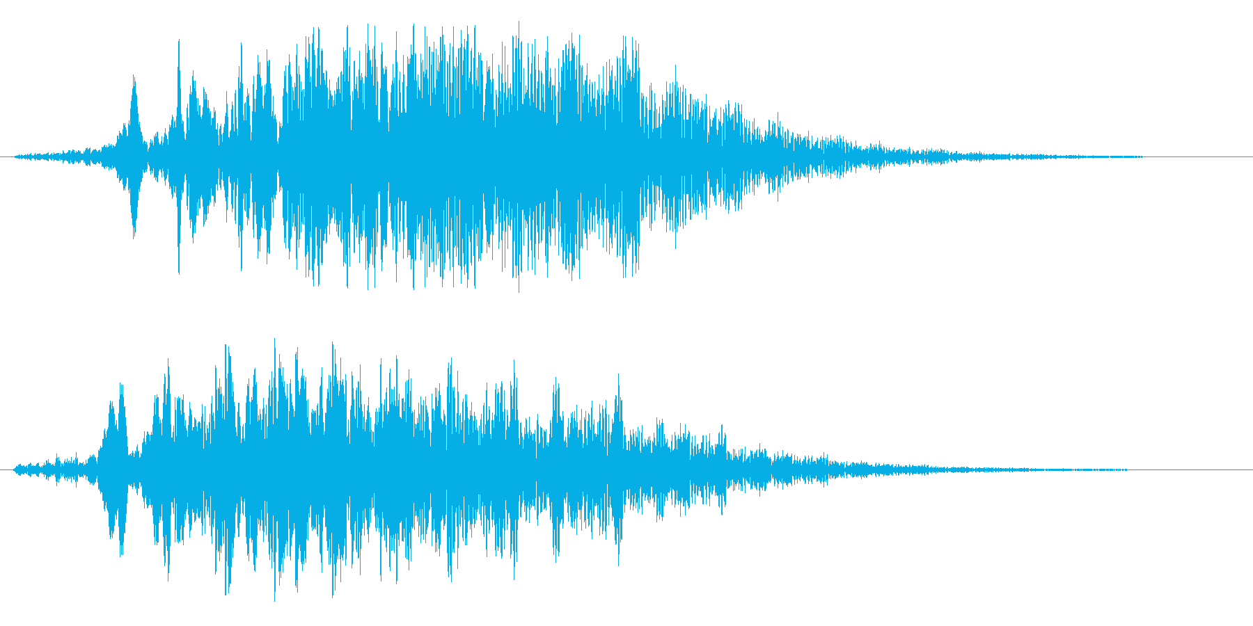 ロケット通過(ヒューウーンという効果音)の再生済みの波形