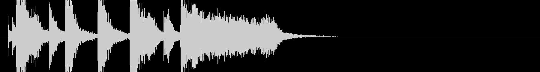 バイオリンの綺麗なアニメアイキャッチ風の未再生の波形