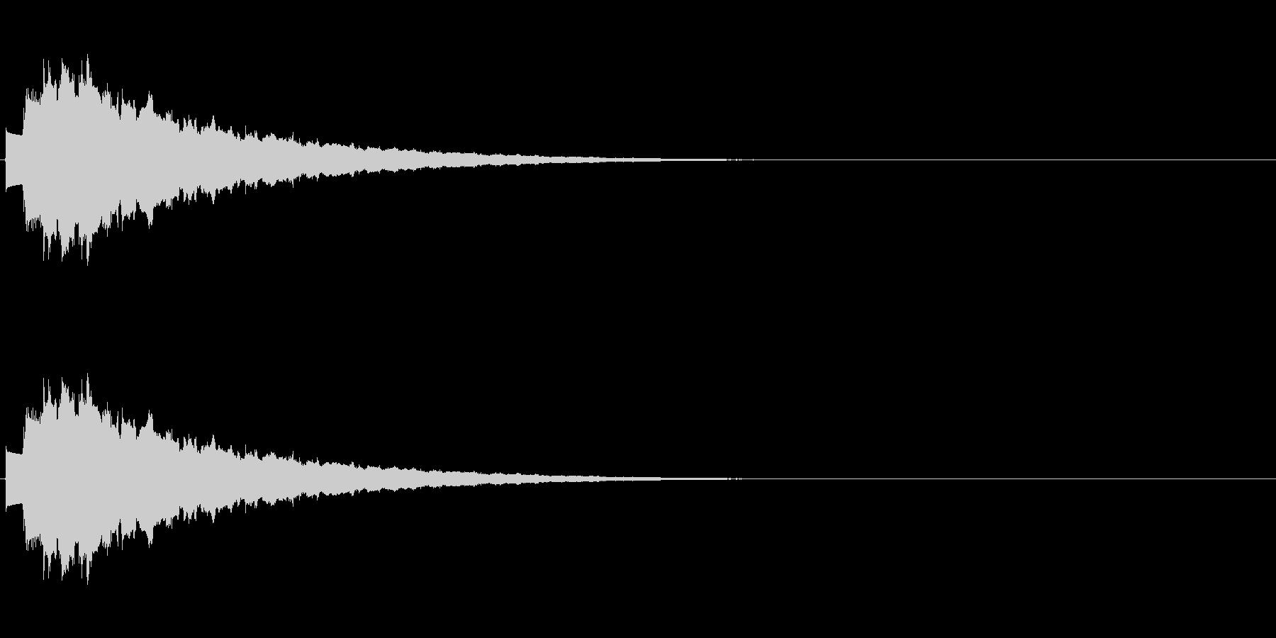 キラキラ…(決定音、綺麗、下降)の未再生の波形