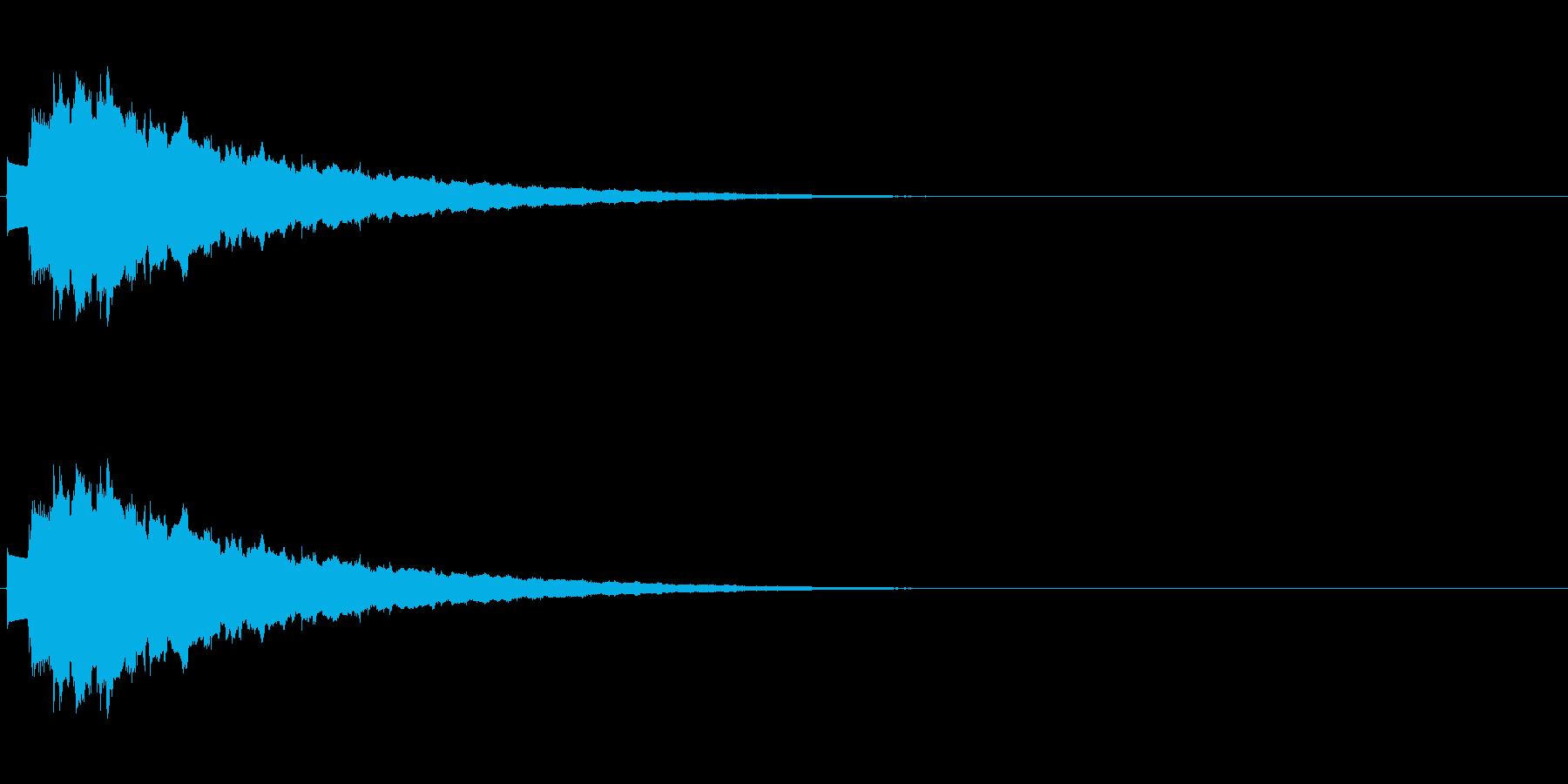 キラキラ…(決定音、綺麗、下降)の再生済みの波形