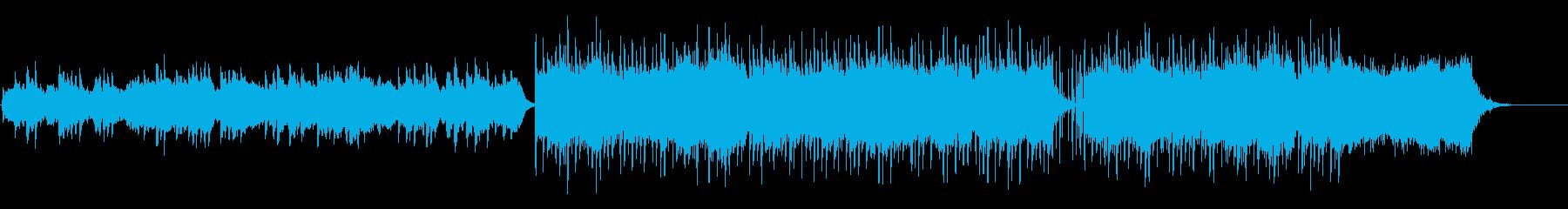 優しく暖かなシンセ主体の曲の再生済みの波形