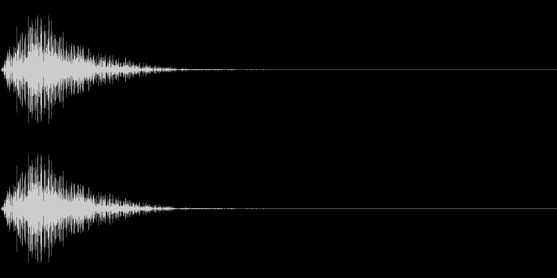 シャッ(ひっかく/猫パンチ/攻撃)の未再生の波形