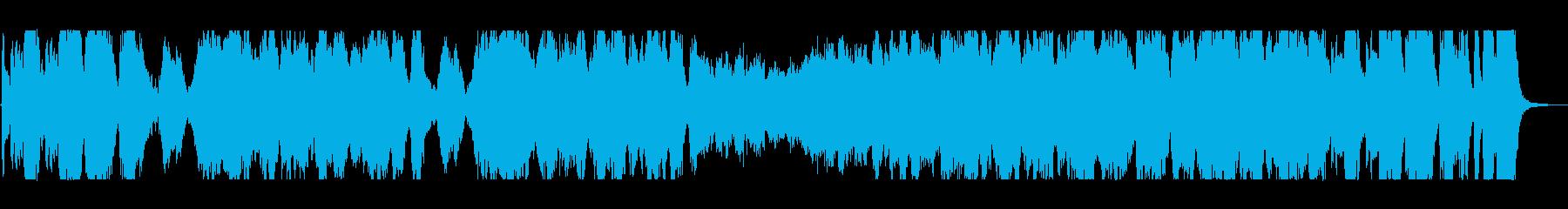 迫力と盛大な管弦楽器シンセサウンドの再生済みの波形
