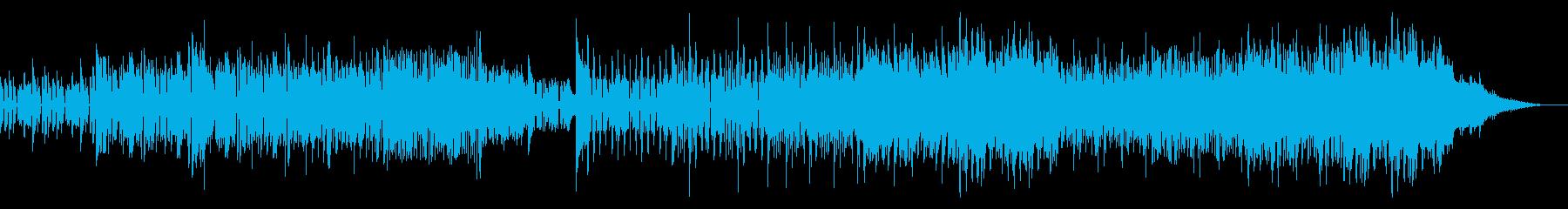 潜入サスペンス風の不気味なビートの再生済みの波形